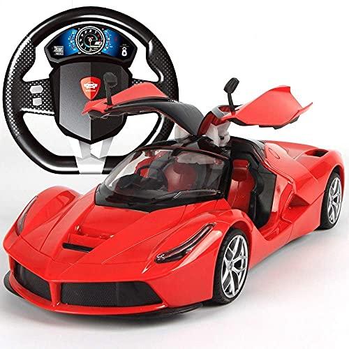 Decoración del hogar El coche con control remoto súper grande puede abrir la puerta Volante de carga Control remoto dinámico Coche con detección de gravedad Control remoto Super Running Boy Niños J