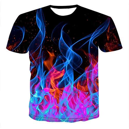 Zuyau 3D Camisetas para Hombre 3D Camisetas Dart Board Camiseta Dardos Tiro Juego Gráfico tee Camisetas Manga Corta Verano Camisas Frescas XL