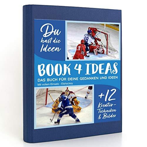 BOOK 4 IDEAS modern | Mit vollem Einsatz - Eishockey, Eintragbuch mit Bildern