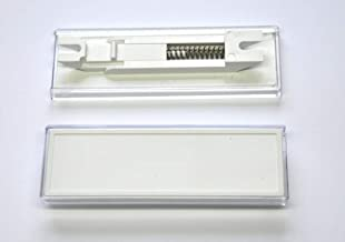 BK 92 F SB par 2 Burg-W/ächter PVC Transparent Porte-/étiquette pour bo/îte aux lettres