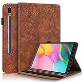 Funda para Samsung Galaxy Tab S7 11'' 2020 Carcasa SM-T870/T875 Prima PU Cuero Estuche Flip Protector de Caso con Función de Soporte y Bolsa de Tarjetas por Galaxy Tab S7 11 Pulgada, Marrón