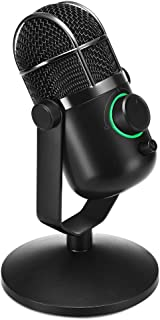 THRONMAX MDRILL DOME Professional USB Studio Condenser Microphone for Chatting/Skype/YouTube/Recording/Gaming/Podcasting for iMac PC Laptop Desktop Windows Computer (BLACK) …