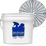 detailmate Set für die professionelle Auto Handwäsche: New detailmate Wash Bucket Wasch Eimer 3,5 Gallonen (ca.12,5 Liter) Made by GritGuard + Grit Guard Eimer Einsatz blau