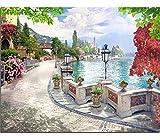 Hcffch Diy Pintura Al Óleo Digital Por Números Sobre Lienzo Lakeside Paisaje Arte De La Pared Imágenes Para Sala De Estar Decoración Para El Hogar Sin Marco 40X50 Cm