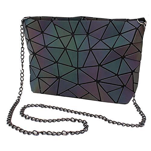 Milya Damen Geometrische Kette Umhängetasche Quadratische Paket Leuchtend