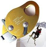 LXNQG Grab de Corde pour l'escalade de Roche/Arbre, équipement d'escalade Protection Contre Les Chutes Protection de l'automne pour 11-12.5mm Corde 2 2KN, Alliage d'aluminium-magnésium