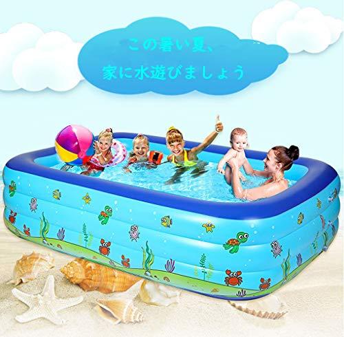 家庭用 ビニールプール 大型 ファミリープール 150cm 3気室 クッション性 水あそび 暑さ対策 レジャープー...