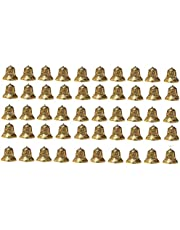 SPHINX Golden Colored Plastic Bells for Crafts/Decoration/Festive Decor (check sizes carefully) - (A1.8R) - Pack of 50