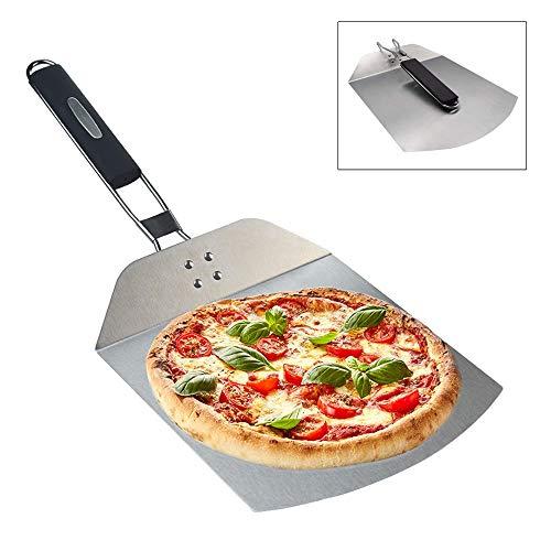 WMLS Pizzaschieber Kuchenheber Edelstahl Pizzaschaufel Faltbar Pizzastein für Backen Hausgemachte Pizza Brot Kuchen und Kekse,B