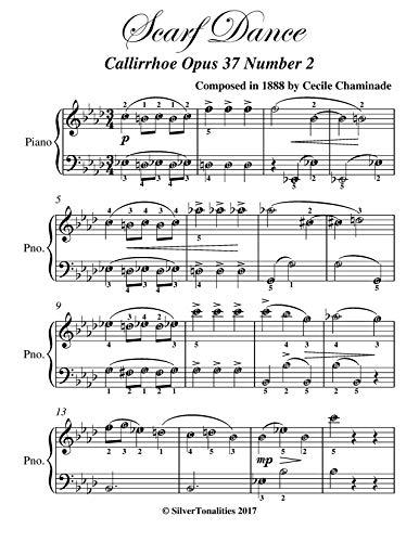 Scarf Dance Callirrhoe Opus 37 Number 2 Elementary Piano Sheet Music (English Edition)