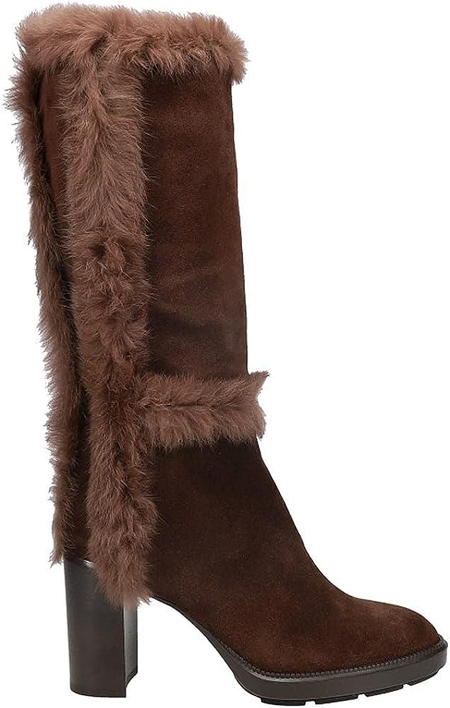 AQUATALIA Womens Imelda SuedeReal Fur Zippered Dress Boots Mid Calf High Heel 3