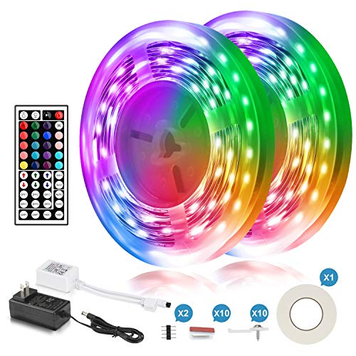 HQVOIC LED Strip Lights, 8.2ft USB TV LED Backlights with RF Remote for 32-60inch HDTV, Color Changing 5050 Dimmable Bias Lighting with 3M Tape for Room, Bedroom, TV, PC Decoration