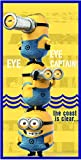 St.IoannidisSon Toalla Playa Minions 3, 100% poliéster Microfibra, Color Único, 70 x 140...