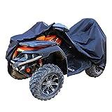 AmazonBasics – Funda resistente a la intemperie estándar para quad (ATV), poliéster de tipo Oxford de 150D, para quads de hasta 215cm