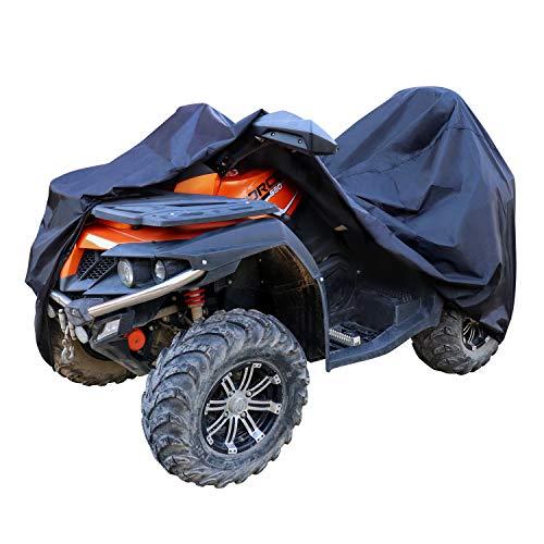 Amazon Basics – Funda resistente a la intemperie estándar para quad (ATV), poliéster de tipo Oxford de 150D, para quads de hasta 215cm