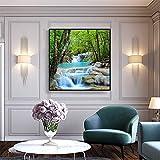 ganlanshu Cartel del Arte de la Lona en la Selva Creek Paisaje Creativo decoración de la Pared Imagen Moderna decoración del hogar,Pintura sin Marco,70x70cm