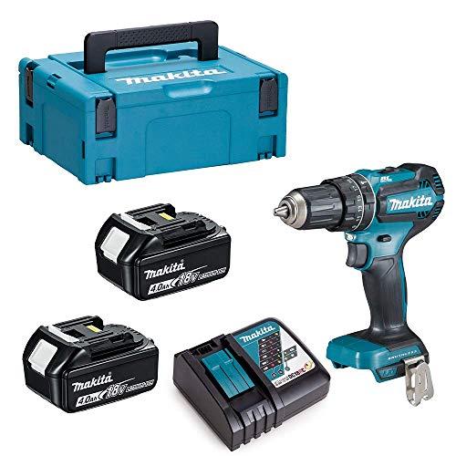 MAKITA DHP485RMJ DHP485Z 18V LXT BRUSHLESS Combi Drill 2 x 4 Ah Batteries