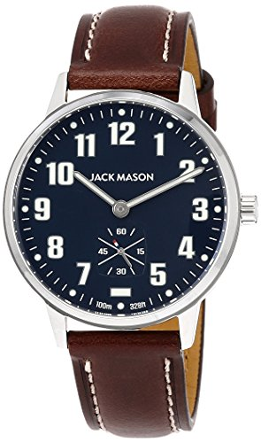 Field Sub Second 38mm SS Navy Dial Brown Leather Strap