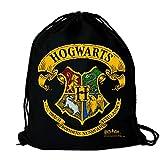 LOGOSHIRT - Harry Potter - Hogwarts - Logo - Sportbeutel - Turnbeutel - schwarz - Lizenziertes...