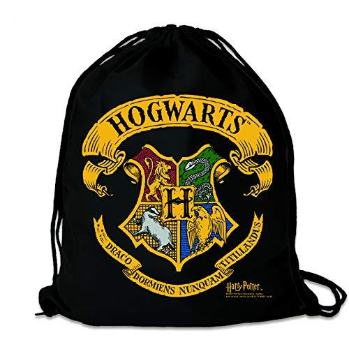 Logoshirt: Harry Potter   Hogwarts     Mochila Saco   Bolsa   negro   Diseño original