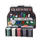 Maletín de Póker Aluminio con Fichas Poker Chips, Profesional Juego Set de Poker Casino Gramos Tarjetas, póquer, Set, fichas de póquer, Maletas, fichas