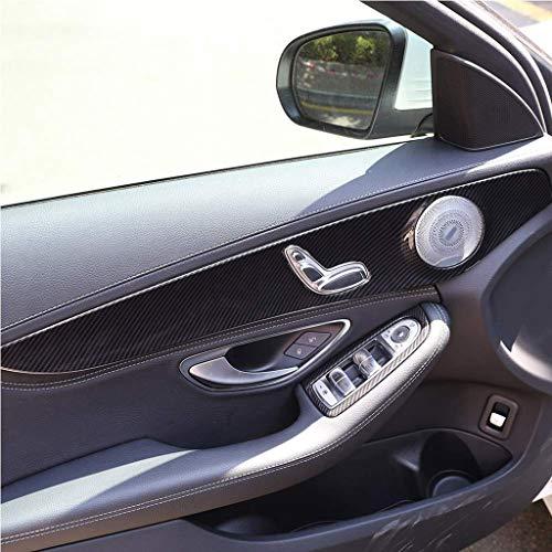 Style de Fibre de Carbone de Garniture de décoration intérieure de Panneau de Porte intérieur de Voiture en Plastique d'ABS pour la Classe C W205 C180 2015-2018