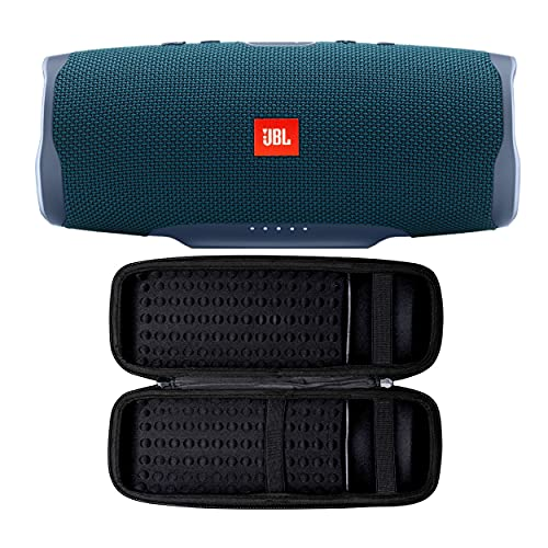 JBL Charge 4 Portable Bluetooth Speaker (Blue) with Knox Gear Hard Travel Case Bundle (2 Items)
