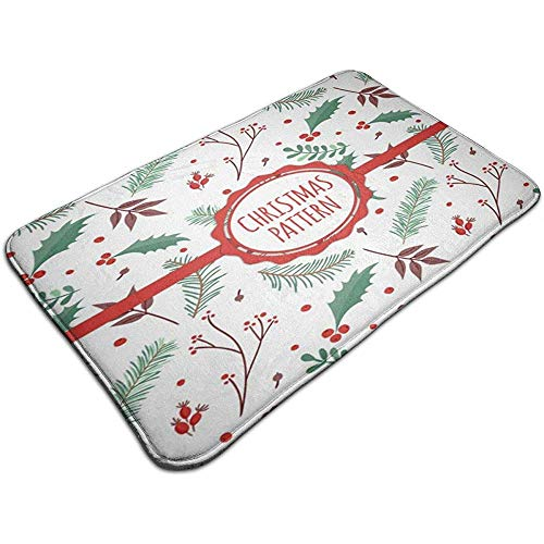 Liumt rode en witte kerstman slee en rendier decoreren Decor deurmat anti-slip badmat binnen/buiten tapijten 50cm*80cm
