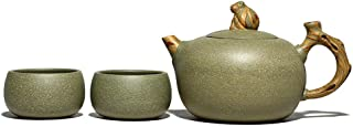 Clay teapot, Tea Set, Kung Fu Tea, Handmade Purple Sand, Oriental Portable Gift, Monkey Master-Single Pot