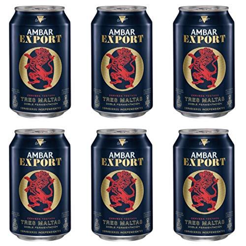 Ambar EXPORT Bier 7.0% Alkohol. Dosen 330 ml. bier dose, biere der welt, bier set, geschenke für männer, ambar bier (24 Dosen, 0.33 l)