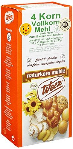 Werz 4-Korn Vollkorn Mehl 1kg