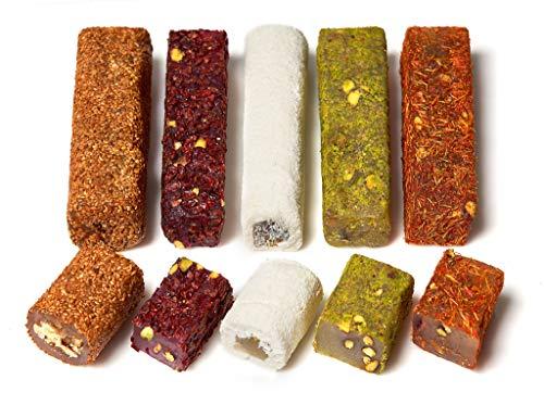 Turkish Delights Candy Bars Gift (Pistachio,Berries, Turkish Saffron,Sesame)