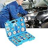 PR 22PCS uto de disco universal Pinza de freno del coche del viento Volver Pad compresor de pistón de Automóviles Garaje de reparación Kit de herramientas con estuche (Color : Blue)