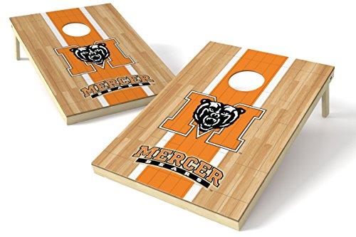 Wild Sports NCAA College Mercer Bears 2' x 3' Hardwood Cornhole Game Set
