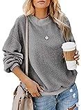 Women's Novelty Sweatshirts Casual Plain Solid Fluffy...