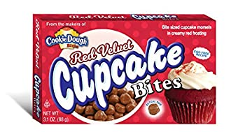 Cookie Dough Bites Red Velvet Cupcake 3.1 Ounce  Pack of 12