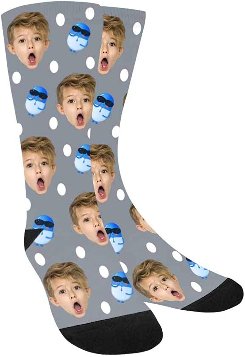 Custom Socks with Faces Pills Personalized Printed Photo Girl's
