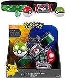 Pokeball Cinturón Figuras Pokemon Juguete Set Bulbasaur Figura de Acción Poke Ball Modelo Juguetes Cinturón Retráctil Regalos Para Niños Juguetes en caja