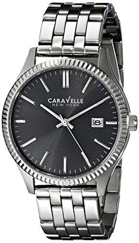 Caravelle New York Men's 43B131 Analog Display Japanese Quartz Silver Watch