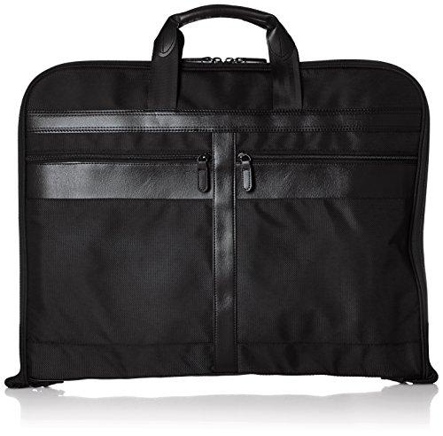 [シフレ] ガーメントバッグ ハンガー付属 キャリーオン可能 2着収納可 小物ポケット搭載 ブラック