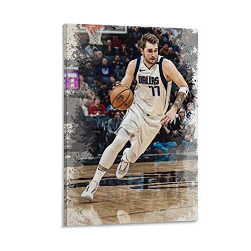 GUAHUA Póster deportivo de jugador de baloncesto Luka Doncic 3 póster decorativo de pintura en lienzo para pared para sala de estar, dormitorio, 40 x 60 cm