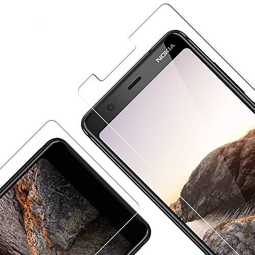 Pellicola Protettiva in Vetro Temperato per Nokia 5.1 2018, [3 Pezzi] [durezza 9H] [Alta Trasparente] [Nessuna Bolla] [Anti-Impronte] [Facile da Pulire] [Anti graffio]