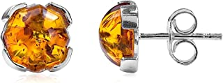 AvalonJewelry womens boys girls mens teens 925 sterling-silver other-shape brown amber