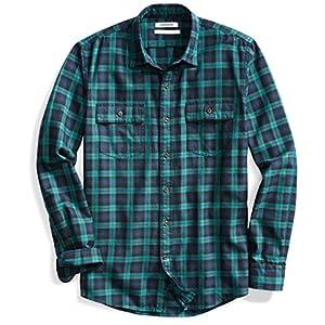 Men's Standard-Fit Long-Sleeve Plaid Twill Shirt