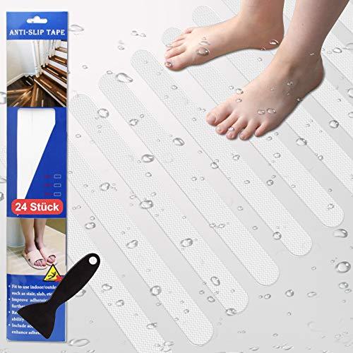 Eruibos Anti Rutsch Streifen, 24× (2 cm* 38cm) Anti Rutsch Sticker für Duscheinlage, Treppenstufen Antirutsch, Anti Rutsch Badewanne, Antirutschmatte Anti Rutsch Dusche.