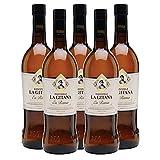 Vino Manzanilla La Gitana en Rama de 75 cl - D.O. Manzanilla-Sanlucar de Barrameda - Bodegas Hidalgo La Gitana (Pack de 5 botellas)