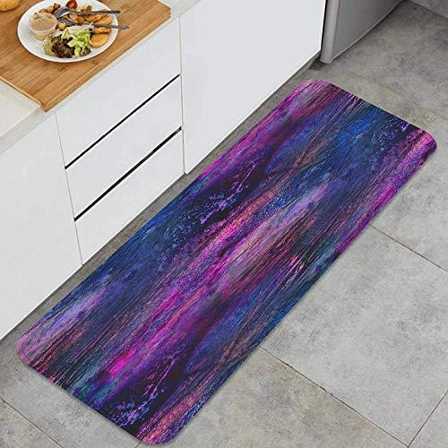 ZUL Küchenmatte Teppich,Palette Bilderrahmen Grafik blau lila Nahtlose Stil Textur Aquarell Hintergrund Künstler,für Küche Bodenhaus Büro Waschbecken Wäscherei Super saugfähig und rutschfest