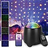 Opard Sternenhimmel Projektor, Sternenlicht Projektor mit Fernbedienung, USB Wasserwelle Sternenlicht Projektor, Nachtlicht mit Bluetooth Lautsprecher für Party Dekoration Schlafzimmer