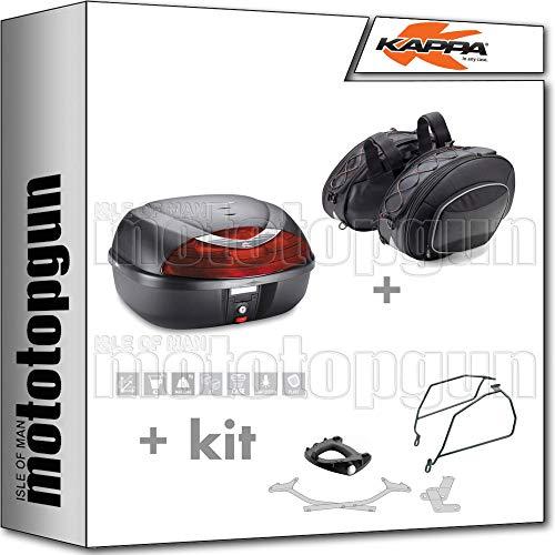 kappa maleta k42n + alforjas laterales ra310 + portaequipaje monolock + soporte alforjas compatible con suzuki gsx-s 1000 f 2020 20