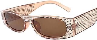 DovSnnx - DovSnnx Gafas De Sol Unisex para Hombres Y Mujers Polarizadas Protección 100% Uv400 Clásico Vintage Moda Sunglasses Lente De Té con Marco De Té De Imitación De Diamante